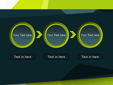 Green Geometrical Shapes Abstract PowerPoint Template Slide 5