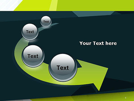 Green Geometrical Shapes Abstract PowerPoint Template Slide 6