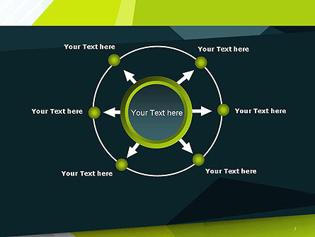 Green Geometrical Shapes Abstract PowerPoint Template Slide 7