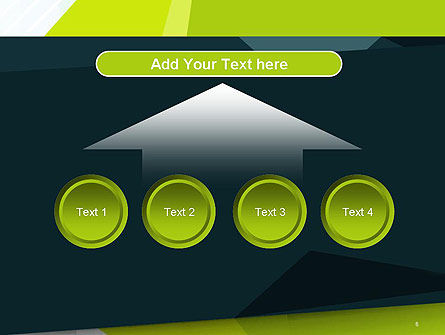 Green Geometrical Shapes Abstract PowerPoint Template Slide 8