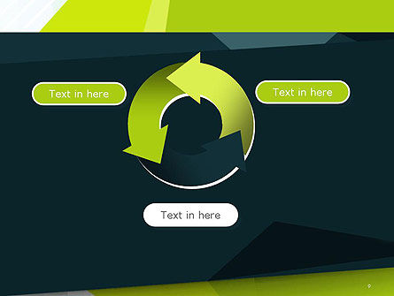 Green Geometrical Shapes Abstract PowerPoint Template Slide 9