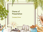 Careers/Industry: Spa Therapy Frame PowerPoint Template #14478