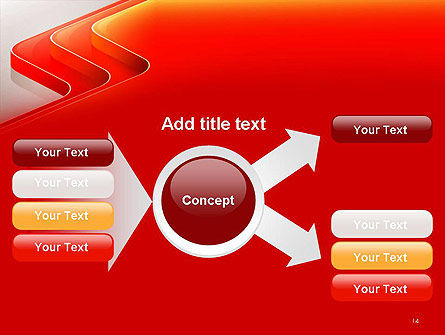 Abstract Glossy Red Orange Perspective Steps PowerPoint Template Slide 14