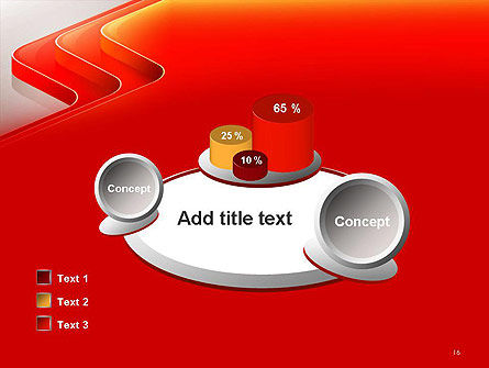 Abstract Glossy Red Orange Perspective Steps PowerPoint Template Slide 16