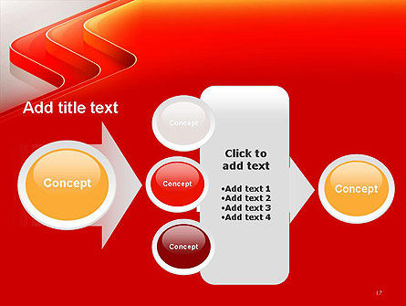Abstract Glossy Red Orange Perspective Steps PowerPoint Template Slide 17