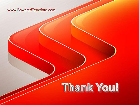 Abstract Glossy Red Orange Perspective Steps PowerPoint Template Slide 20