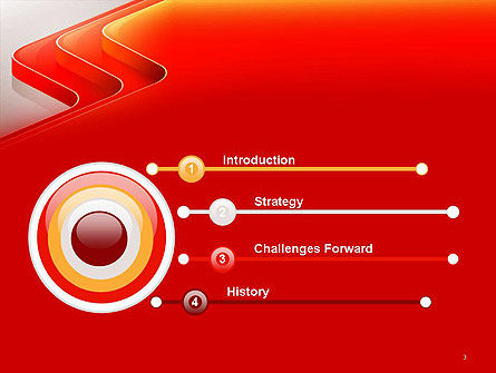 Abstract Glossy Red Orange Perspective Steps PowerPoint Template, Slide 3, 14479, Abstract/Textures — PoweredTemplate.com