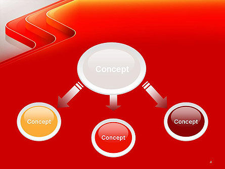 Abstract Glossy Red Orange Perspective Steps PowerPoint Template, Slide 4, 14479, Abstract/Textures — PoweredTemplate.com
