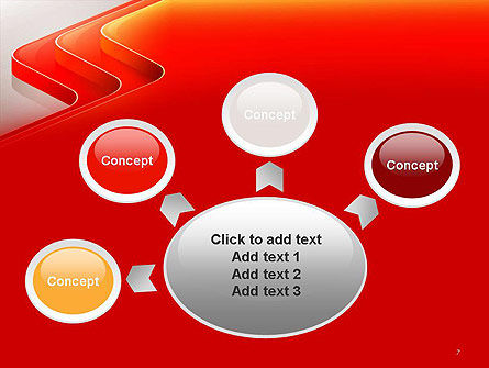 Abstract Glossy Red Orange Perspective Steps PowerPoint Template Slide 7