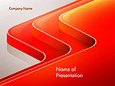 Abstract/Textures: Abstract Glossy Red Orange Perspective Steps PowerPoint Template #14479