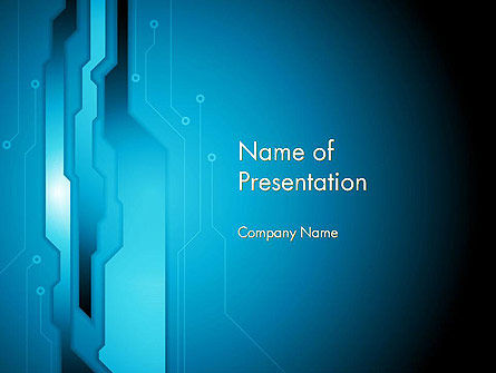 Abstract Technology Circuit Board PowerPoint Template