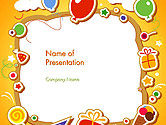 Holiday/Special Occasion: Baby's Photo Frame PowerPoint Template #14481