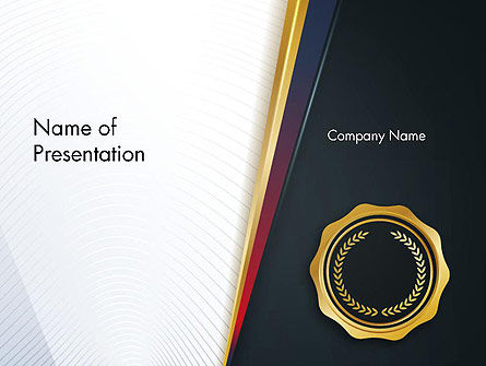 CEO Award Blank PowerPoint Template, 14482, Education & Training — PoweredTemplate.com