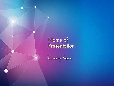 Abstract Network Structure PowerPoint Template, 14483, Abstract/Textures — PoweredTemplate.com
