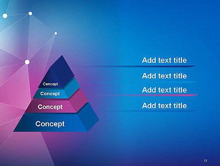 Abstract Network Structure PowerPoint Template Slide 12