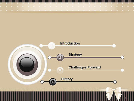 Ornate Beige Ribbon and Elegant Bow PowerPoint Template, Slide 3, 14484, Holiday/Special Occasion — PoweredTemplate.com