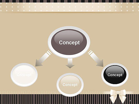 Ornate Beige Ribbon and Elegant Bow PowerPoint Template, Slide 4, 14484, Holiday/Special Occasion — PoweredTemplate.com