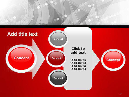 Scientific Future Technology Abstract PowerPoint Template Slide 17
