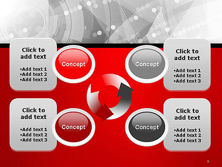 Scientific Future Technology Abstract PowerPoint Template Slide 9