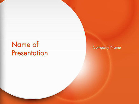 Abstract/Textures: White Circle on Orange Background PowerPoint Template #14489
