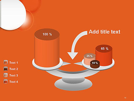 White Circle on Orange Background PowerPoint Template Slide 10