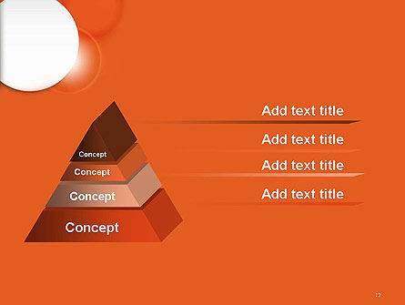 White Circle on Orange Background PowerPoint Template Slide 12
