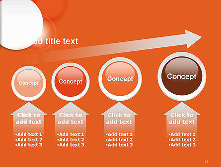 White Circle on Orange Background PowerPoint Template Slide 13