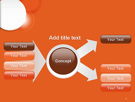 White Circle on Orange Background PowerPoint Template Slide 14