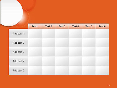 White Circle on Orange Background PowerPoint Template Slide 15