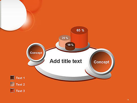 White Circle on Orange Background PowerPoint Template Slide 16