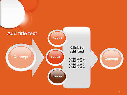 White Circle on Orange Background PowerPoint Template Slide 17