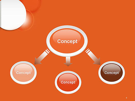White Circle on Orange Background PowerPoint Template Slide 4