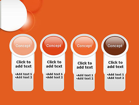 White Circle on Orange Background PowerPoint Template Slide 5