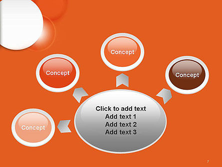 White Circle on Orange Background PowerPoint Template Slide 7