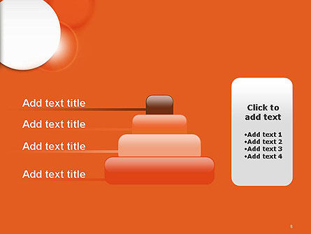 White Circle on Orange Background PowerPoint Template Slide 8