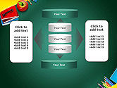 Supplies and Apple on Chalkboard PowerPoint Template#13