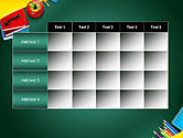 Supplies and Apple on Chalkboard PowerPoint Template#15