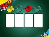 Supplies and Apple on Chalkboard PowerPoint Template#18