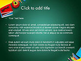 Supplies and Apple on Chalkboard PowerPoint Template#2