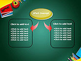 Supplies and Apple on Chalkboard PowerPoint Template#4