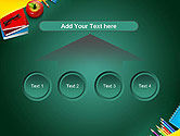 Supplies and Apple on Chalkboard PowerPoint Template#8