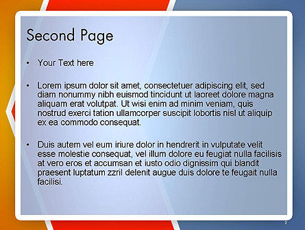 Abstract Angular Pattern PowerPoint Template Slide 2