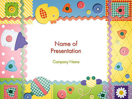 Child Photo Framework PowerPoint Template