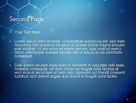 Blue Hive Background Abstract PowerPoint Template, Slide 2, 14495, Technology and Science — PoweredTemplate.com