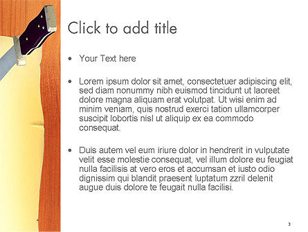 Piece of Paper Stuck to Wall with Knife PowerPoint Template, Slide 3, 14496, General — PoweredTemplate.com