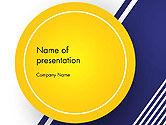 Abstract/Textures: Yellow Circle on Blue Background PowerPoint Template #14497
