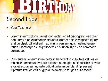3D Happy Birthday Text PowerPoint Template, Slide 2, 14500, Holiday/Special Occasion — PoweredTemplate.com