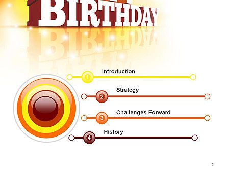 3D Happy Birthday Text PowerPoint Template, Slide 3, 14500, Holiday/Special Occasion — PoweredTemplate.com