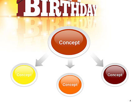 3D Happy Birthday Text PowerPoint Template, Slide 4, 14500, Holiday/Special Occasion — PoweredTemplate.com