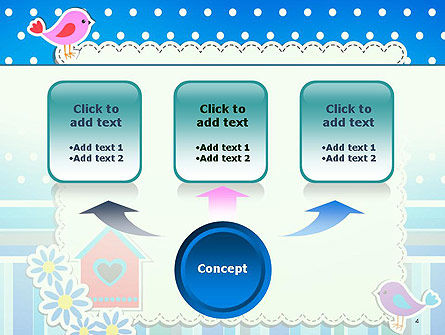 Baby Photo Frame With Flowers and Birds PowerPoint Template, Slide 4, 14501, Holiday/Special Occasion — PoweredTemplate.com